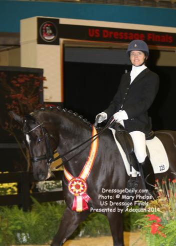 Dr. and Braxxton, her own 7-year-old Hanoverian gelding (by Baroncelli out of Rosana by Rotspon), earned a 67.479 percent to win Reserve Champions in the US Dressage Finals Third Level Amateur class.