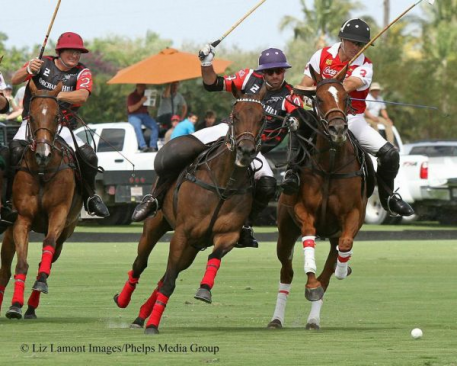 Ezequiel Martinez Ferrario, Facundo Pieres and Pelon Sterling. Photo: Liz Lamont Images