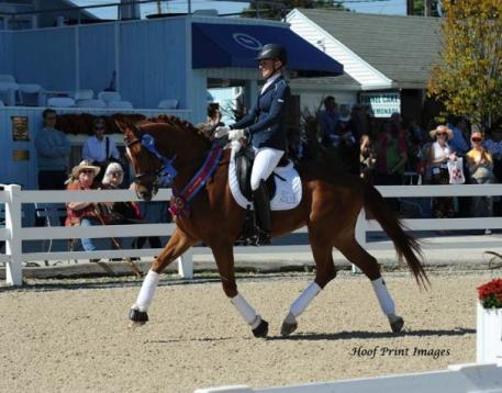 Kim Gentry and Frasier - Young Performance Horse Champion (Photo: Hoof Print Images)