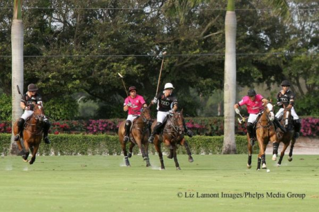 Marc Ganzi, Sterling Giannico, Gonzalito Pieres, Hilario Ulloa and Rodrigo Andrade. Photo: Liz Lamont Images