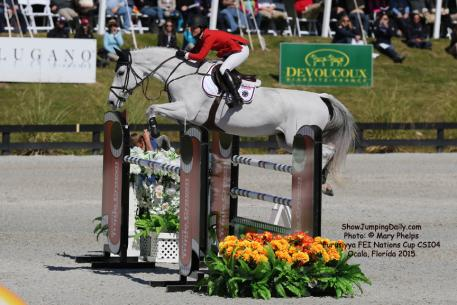 Georgina Bloomberg and her amazing Austrian Warmblood mare Juvina (by Cassini I x Grannus) producing the best overall result. Photo: © Mary Phelps