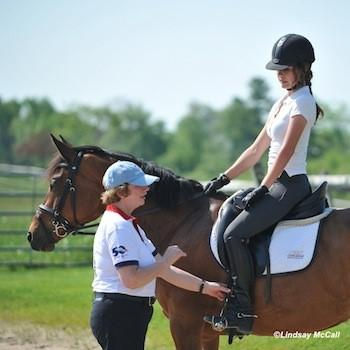 Hanneke Gerritsen (FEI 5* Para-Dressage judge) works with Elle Wooley. (Photo: Lindsay Y. McCall)