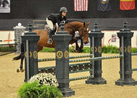 Gulino and Cappello at the National Horse Show in 2014 for the Maclay Medal Finals. Photo by Shawn McMillen Photography