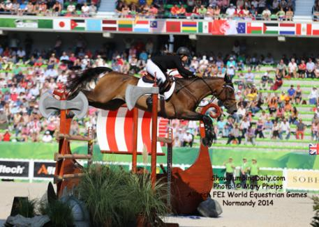 Danielle Goldstein and Carisma competing at the 2014 Alltech FEI World Equestrian Games Normandy 2014 photo: Mary Phelps