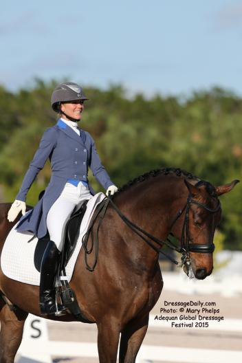 Susanne Hassler and Harmony's Boitano KWPN gelding by Santano out of the mare Roma Jackson (Whinny Jackson-Ferro) Photo: © Mary Phelps