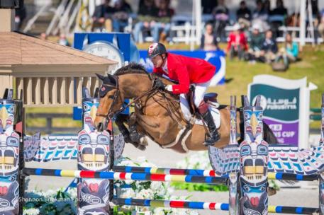 Ian Millar and Dixson, owned by Susan and Ariel Grange, were members of the Canadian Show Jumping Team that tied for third place in the $200,000 Furusiyya Nations' Cup at CSIO4* Ocala, Florida. Photo Credit - Shannon Brinkman Photography