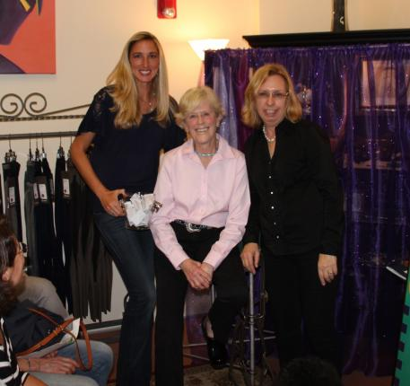 From left to right, Krystalann Shingler of ShowChic, Olympic dressage rider Carol Lavell, and Michele Hundt of ShowChic during the January 14, 2014 ShopTalk.