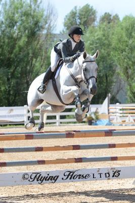 Children's Individual Gold Medalist Isabella Baxter aboard Keystone. (Photo: Flying Horse LTD)