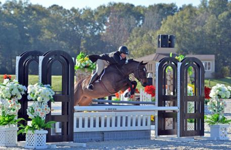 Contina and Jacquelyn Maggiore jump to victory in the ,500 Platinum Performance Hunter Prix Saturday, January 17. (c) ESI Photography