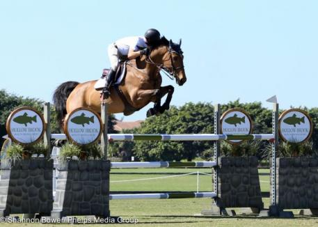 Jeffery Welles and KM What Ever RV captured the win during the second 1.30-1.35 Jumper class.