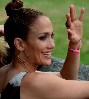 Jennifer Lopez attended this year's Hampton Classic. Photo by: Victor Cangro