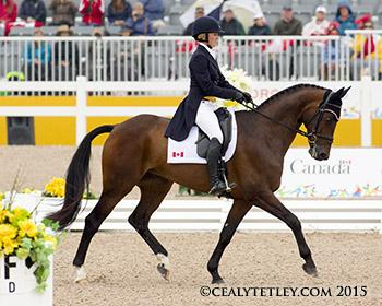 Jessica Phoenix, 31, of Cannington, ON, and Pavarotti are poised to defend their Pan American Games title. Photo © Cealy Tetley - www.tetleyphoto.com