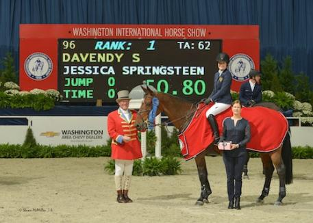 Jessica Springsteen and Davendy S in their winning presentation. Photo © Shawn McMillen Photography, www.shawnmcmillen.com.