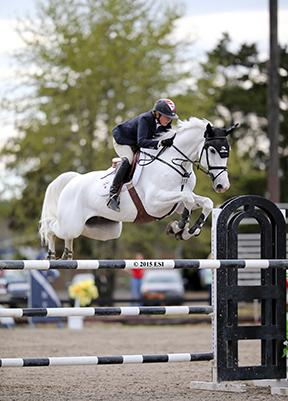 Brian Walker and Tamara 296, owned by The Tomorrow Group, claimed the first Grand Prix victory at HITS Culpeper in the Commonwealth National Show on April 19, 2015 at HITS Commonwealth Park in Culpeper, Virginia. (c) ESI Photography