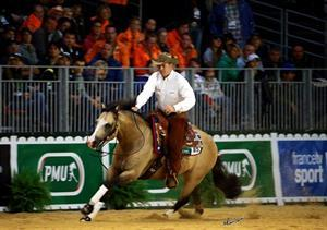 Jordan Larson riding HF Mobster (Andrea Bonaga Photo)