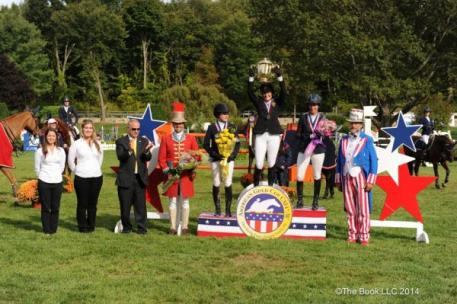Katie Dinan, Jessica Springsteen and Laura Kraut topped the podium in the $200,000 American Gold Cup CSI4*-W