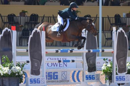 Kelsey Thatcher and Athena in the High Amateur Owner Jumper Classic at WEF. Thatcher finished first and second with Everything and Athena respectively. Photo by ChicagoEquestrian.
