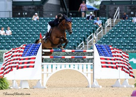 Young Rider Individual Gold Medalist Lucy Deslauriers aboard Hester. (Photo: Susan J. Stickle Photography)