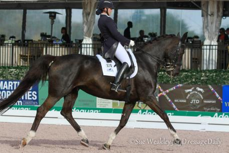 Melanie Montagano and her 15-year-old Dutch Warmblood mare (Gambol-Kaola) Ga Deva Photo: Sue Weakley