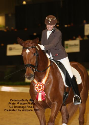 Viki Meyers from Russellville, Ark., a Regional Sales Manager with International Paper made the trip to Kentucky with Gold Flash, a 6-year-old Hanoverian gelding (by Gold Luck) win First Level Adult Amateur Reserve Championship.