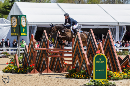 Michael Jung and Fischerrocana FST, winners of the 2015 Rolex Kentucky Three-Day Event, presented by Land Rover. (Photo: Ben Radvanyi)