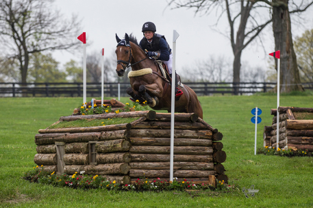 Michael Jung of Germany stands second in the Rolex Kentucky Three-Day Event, presented by Land Rover, on La Biosthetique Sam FBW. (Photo: Ben Radvanyi)