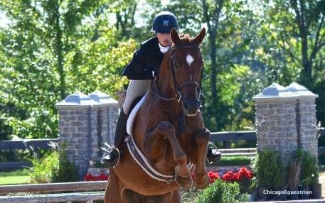 Nicole Loochtan and Dream On won the Top Junior Award. Photo by Chicago Equestrian.