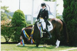 Nyewyn, a 14.1-hand Morgan and Welsh cross and Lauren Chumley. (Photo: Peggy Christ)