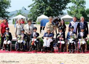 Para-Dressage Team medalists - Team USA (left) and Team Canada (right) (Photo: SusanJStickle.com)