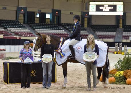 Rachel Heist and Cordelanne in their winning presentation. Photo copyright Shawn McMillen Photography