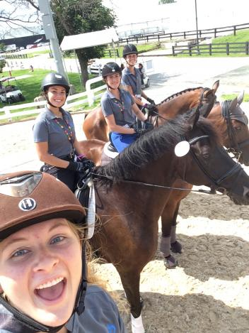 Region Three Young Riders, Out and About at the Kentucky Horse Park - Mallory Kent, Natalie Pai, Lindsey Holleger, and Rebecca Roman