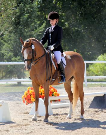 Summer 2012 - Sammie and Rohanna on their way to Third level poise. Photo: Suzanne Wepplo
