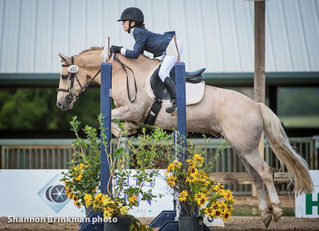 Molly Humes and Madoc Golden Graham added nothing to her dressage score all week taking home the Reserve Champion title in the Broadstone Junior Beginner Novice 14 & Under Division on a final overall score of 25 penalties. Shannon Brinkman Photo.