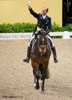 Steffen Peters and Ravel at the 2009 Dressage World Cup. (Photo: Sheryl Ross)