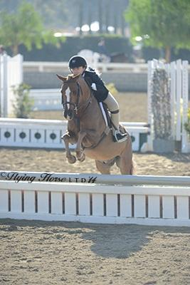 Stella Wasserman sticks to the plan to win the LEGIS League Children's Pony Hunter Final. Photo: Flying Horse Photography