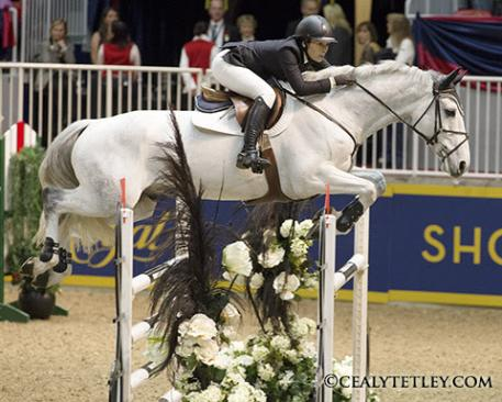 Susan Horn, 30, of Bolton, Ont., claimed the Reserve Champion title riding Balintore on Saturday November 8, at Toronto's Royal Horse Show. Photo Credit - Cealy Tetley