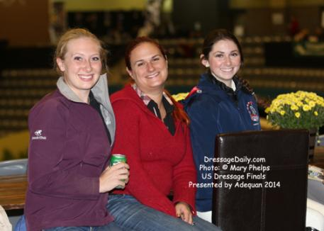 Traveling buddies, Lauren Thornlow, Morgan Barrows and Jacquelyn McMaster