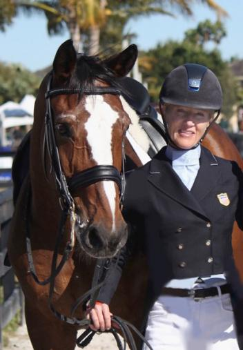 Tuny Page and Alina, winners of the TheraPlate Award, at the 2015 Adequan Global Dressage Festival
