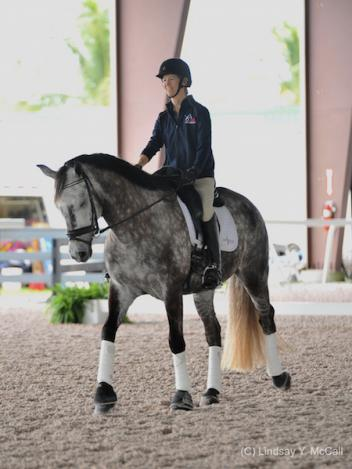 DeLorean MF and Margaret McIntosh at the 2015 USEF High Performance Southeast Para Equestrian Dressage Symposium in Wellington, FL, January 12-13. (Photo (C) Lindsay Y. McCall)