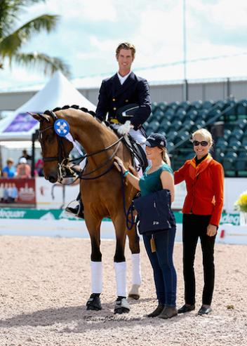 Chris Von Martels and Zilverstar in their winning presentation