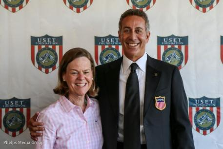 USET Foundation Executive Director Bonnie Jenkins and U.S. Dressage Chef d'Equipe Robert Dover. Photo by Alexandra Lynch