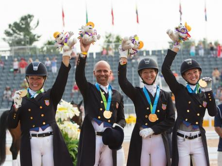 The U.S. Dressage Team earns Gold at the 2015 Pan American Games (Photo courtesy of Red Bay Group, LLC)