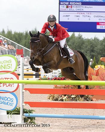 Waylon Roberts of Port Perry, ON, finished 17th individually riding the Canadian Sport Horse, Bill Owen. (Photo © Cealy Tetley)