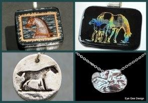 Eye Gee Design offers one of kind handcrafted equine themed jewelry..