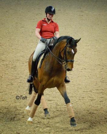 Two-time World Cup™ Champion Isabell Werth of Germany riding El Santo - (c) Tish Quirk