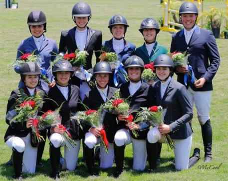 The 2015 Zone 10 Young Rider and Junior Rider Teams. Photo by McCool
