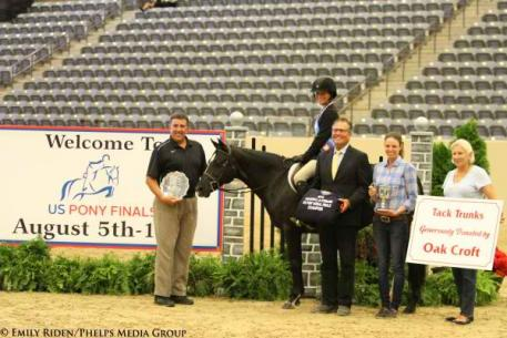 Taylor St Jacques, winner of the 2014 USEF Pony Medal