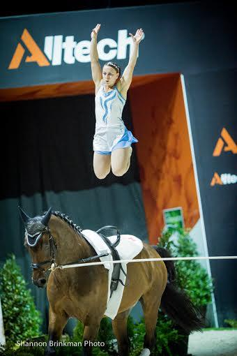 Alisa Schmidt of Chilliwack, BC finished out the FEI World Female Individual Vaulting Championship in 32nd position on September 3. Photo Credit: Shannon Brinkman Photo