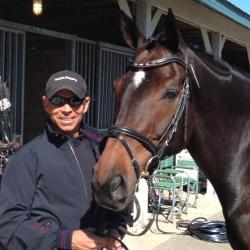 On tour with Steffen Peters and Legolas 92 at the 2013 USEF Dressage Festival of Champions. (Photo: Courtesy Tom Meyers)