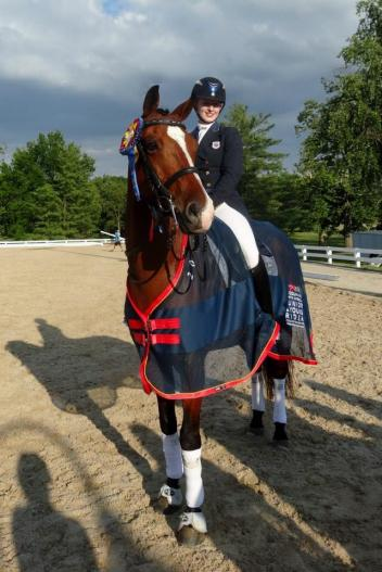 Catherine Rose Chamberlain during the 2014 USDF/Platinum Performance North American Junior Young Rider Championships. (Photo courtesy of DressageDaily.com)